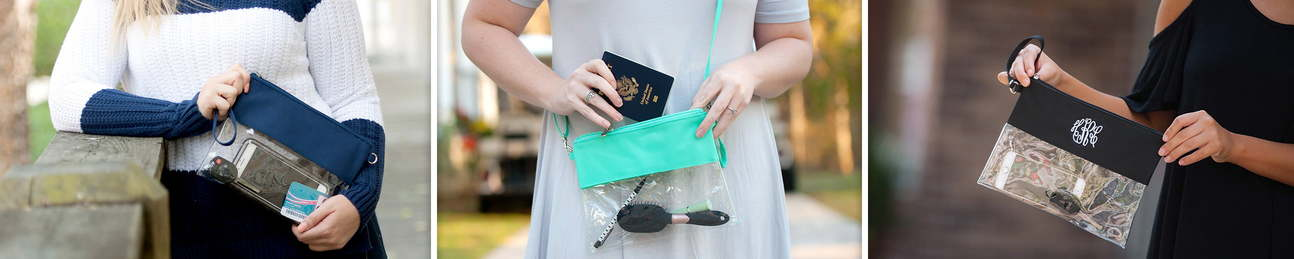 Clear Purses - Clutches - Mint