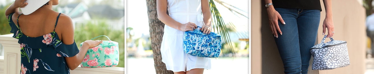 Cosmetic Bags - Jewelry Cases - Zip Pouch Wristlets