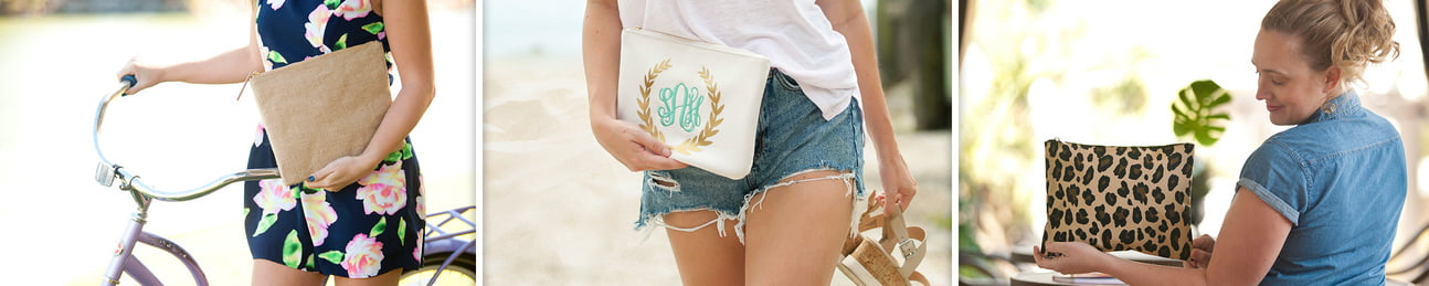 Zip Pouch - Cosmetic Bags - Jewelry Cases