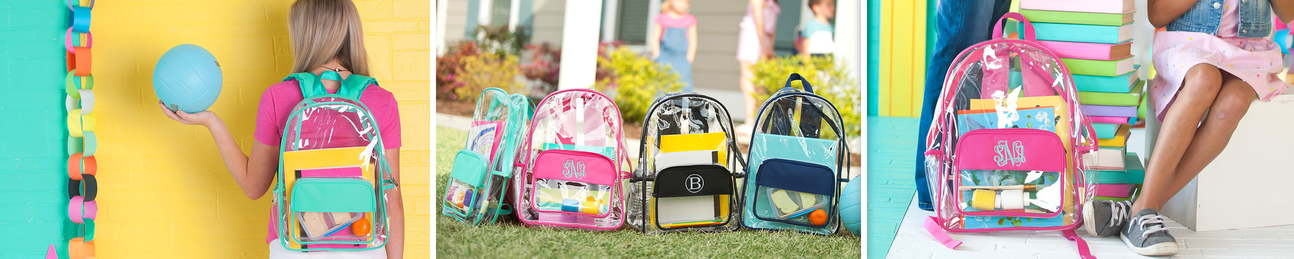 Clear Backpacks - Lunch Boxes