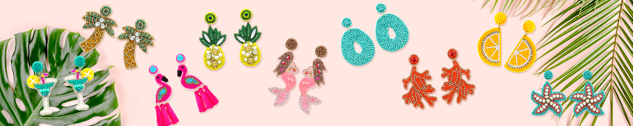 Beaded Earring Collection - Leopard