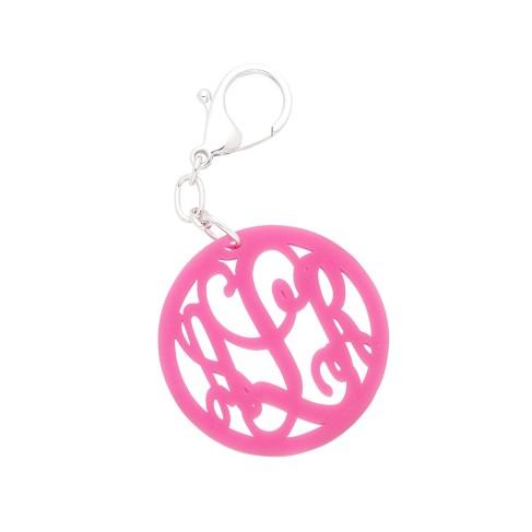 Pink Vine Monogram Acrylic Keychain