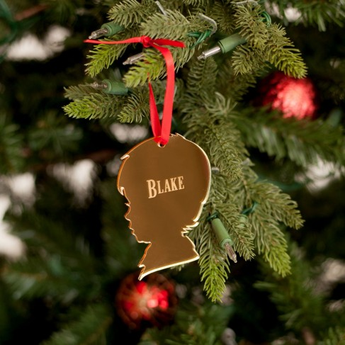 Boy Silhouette Acrylic Ornament