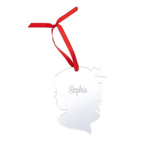 Girl Silhouette Acrylic Ornament