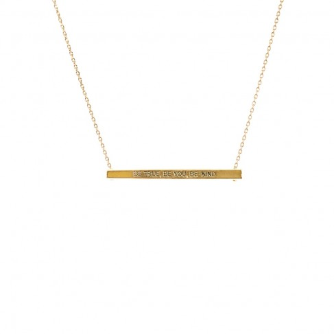 Be True Be You Be Kind Bar Necklace