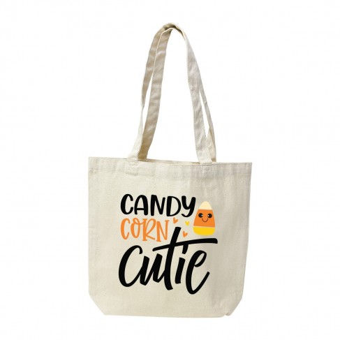 Candy Corn Cutie Canvas Tote