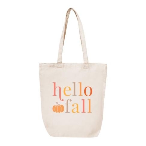 Hello Fall Canvas Tote