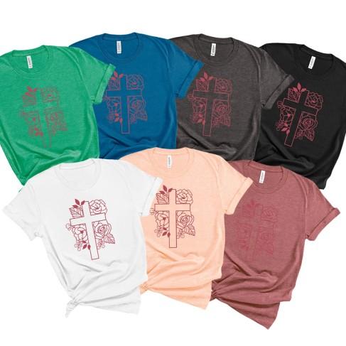 Floral Cross T-Shirt