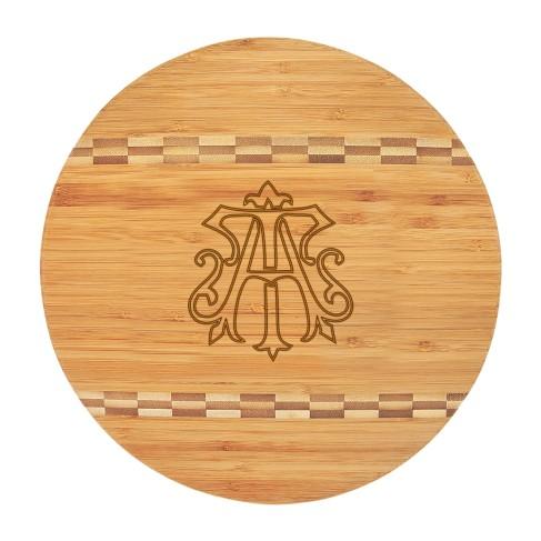 Chic Monogram Round Cutting Board