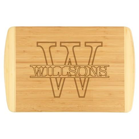 Name Two-Tone Cutting Board