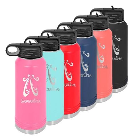 Water Bottle with Ballet Design