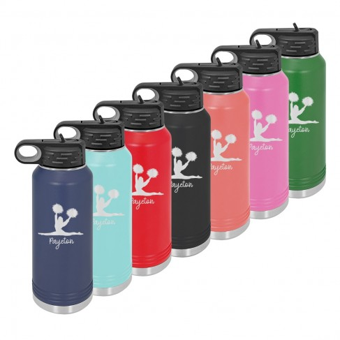 Water Bottle with Cheer Design