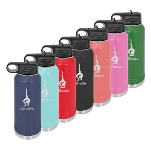 Water Bottle with Gymnastics Design