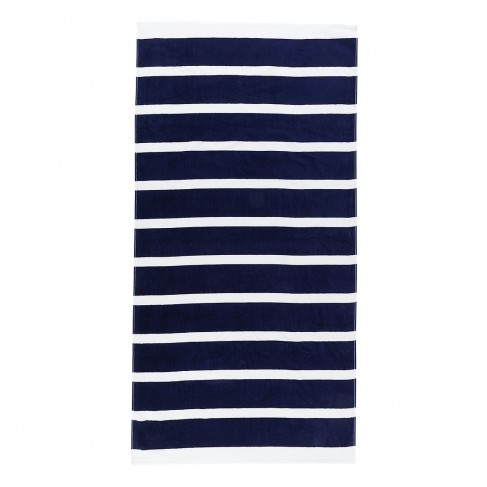 Navy Stripe Beach Towel