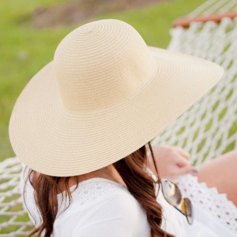 Natural Adult Floppy Hat