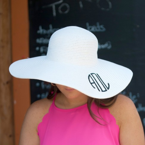 White Adult Floppy Hat