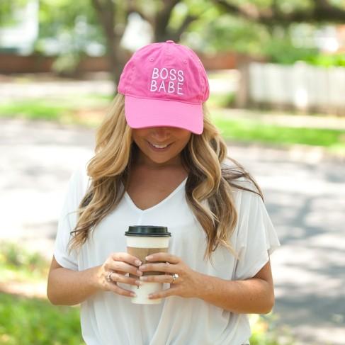 Hot Pink Boss Babe Cap