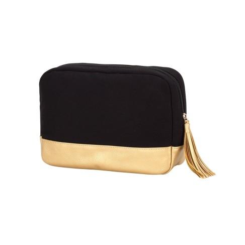 Black Cabana Cosmetic Bag