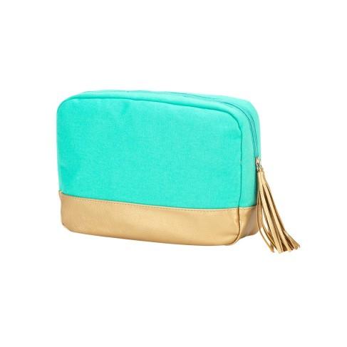 Mint Cabana Cosmetic Bag