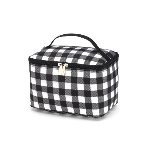 Black Buffalo Check Cosmetic Bag
