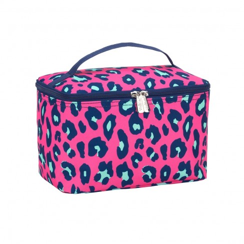 Hot Pink Leopard Cosmetic Bag