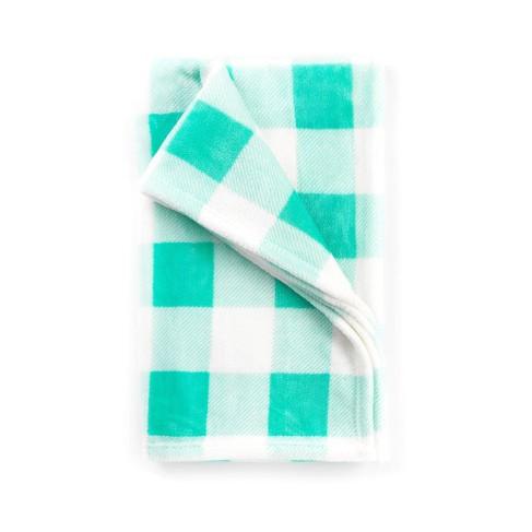 Mint Check Travel Blanket
