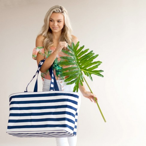 Navy Stripe Ultimate Tote