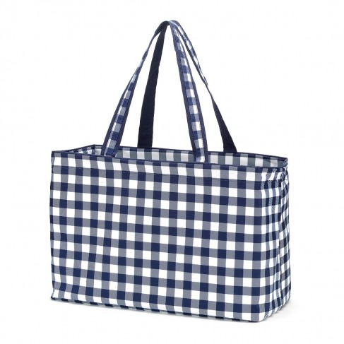 Navy Check Ultimate Tote