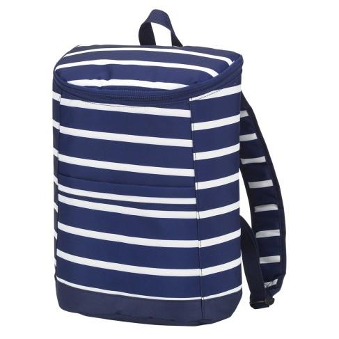Navy Stripe Cooler Backpack