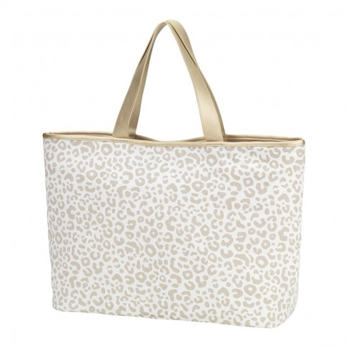 Natural Leopard Ally Tote