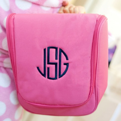 Hot Pink Hanging Cosmetic Case