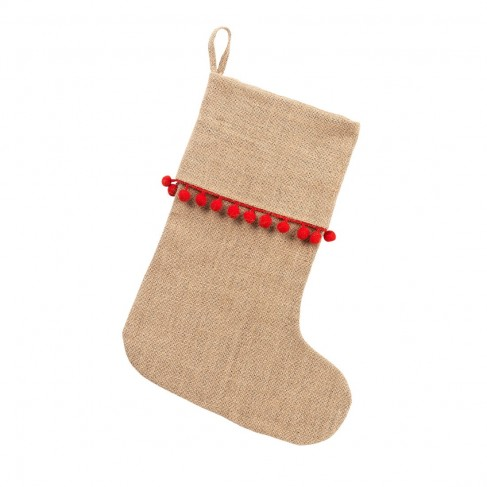 Red Pom-Pom Stocking