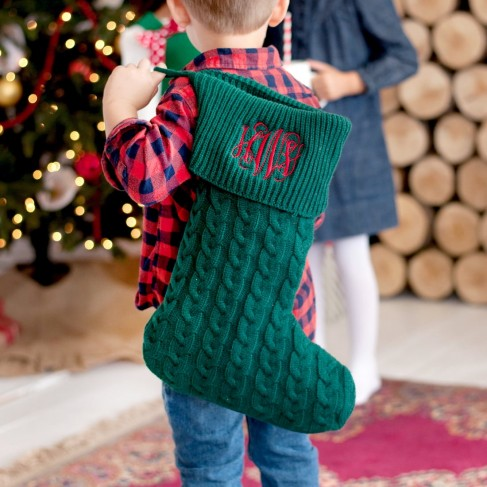 Hunter Green Knit Stocking