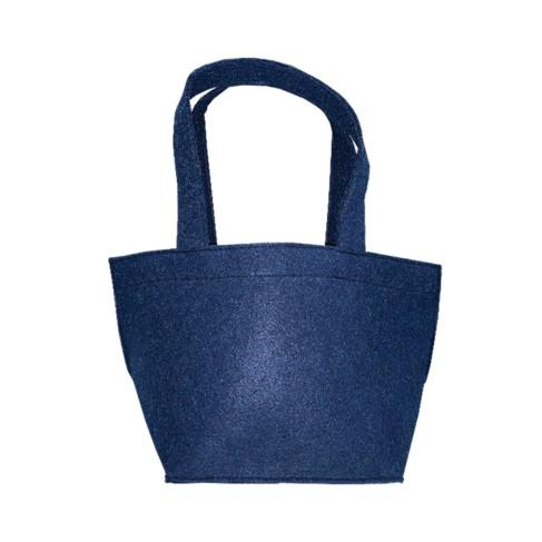 Navy Felt Bucket
