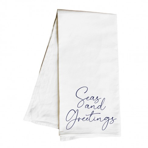 Seas and Greetings Hand Towel