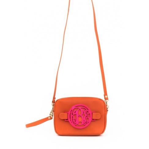 Orange Zoey Monogram Crossbody