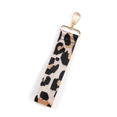 Rose Gold Leopard Wristlet Strap
