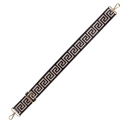 Gold Greek Key Crossbody Strap