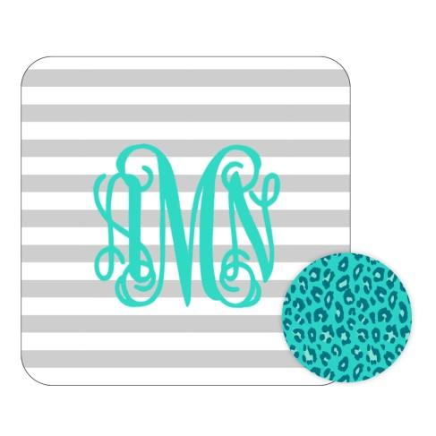 Personalized Grey Stripe Desk Set