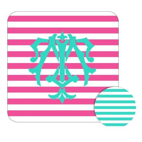 Personalized Hot Pink Stripe Desk Set