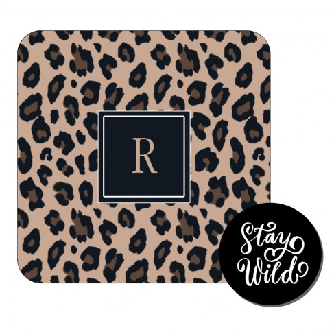 Personalized Leopard Desk Set