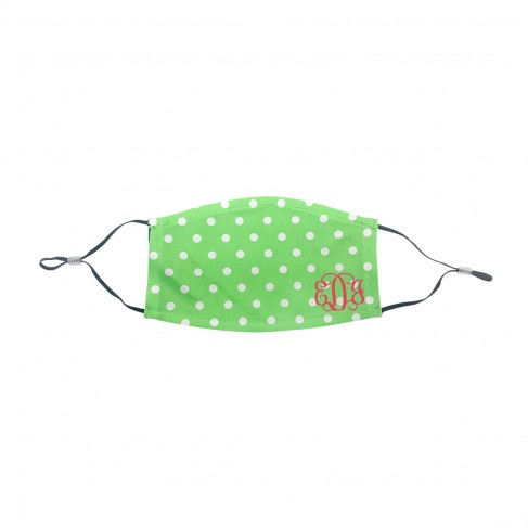 Personalized Green Dot Kids Adjustable Face Mask