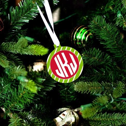 Green Stripe Ornament