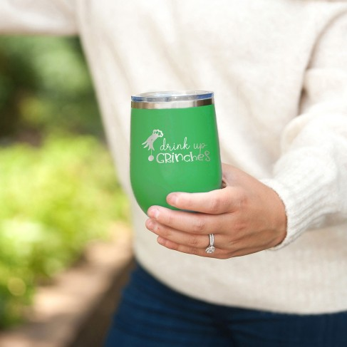 Drink Up Grinches Green 12oz Insulated Tumbler