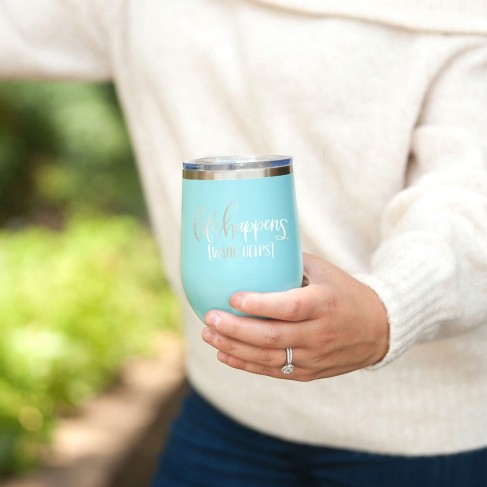 Life Happens Teal 12oz Insulated Tumbler
