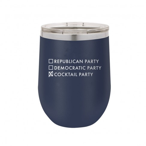 Cocktail Party Navy 12oz Insulated Tumbler