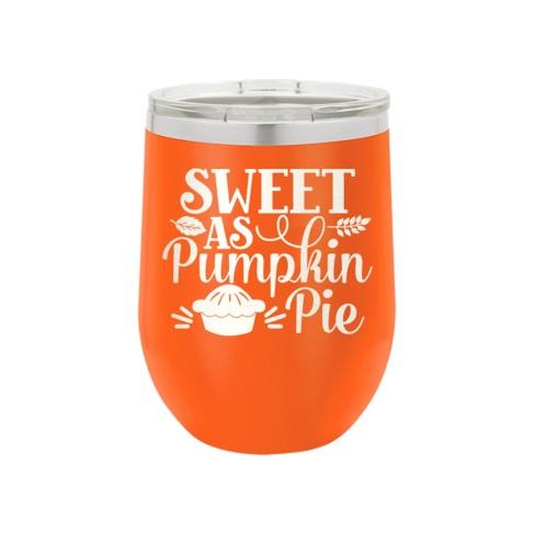Sweet as Pumpkin Pie Orange 12oz Insulated Tumbler