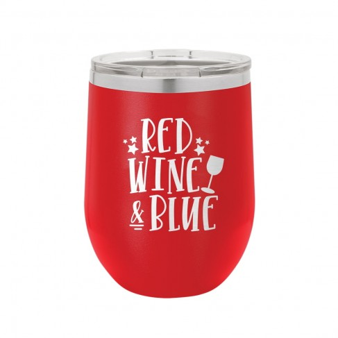 Red, Wine and Blue Red 12oz Insulated Tumbler