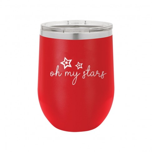 Oh My Stars Red 12oz Insulated Tumbler
