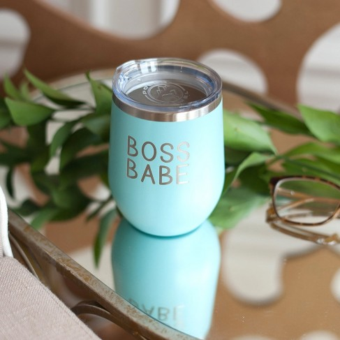 Boss Babe Teal 12oz Insulated Tumbler